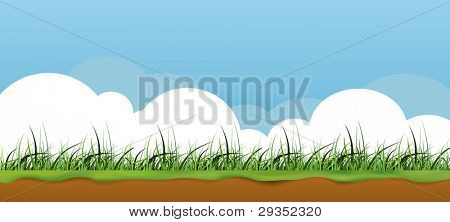 colorful nature grass banner