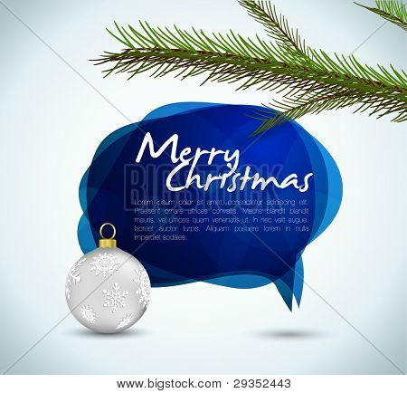 christmas speech bubble