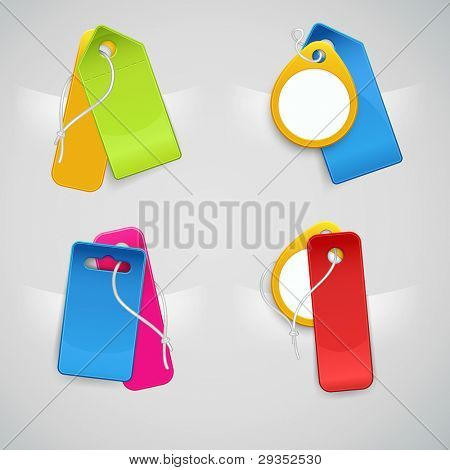 set of colorful price tags, v2