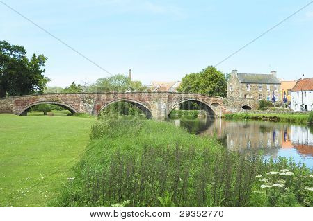 Old Bridge Over River Tyne In Haddington