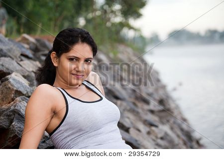 Indian Girl relaxing