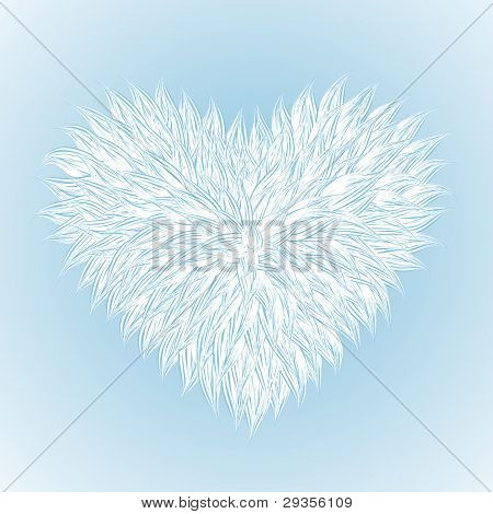 Fluffy White Heart