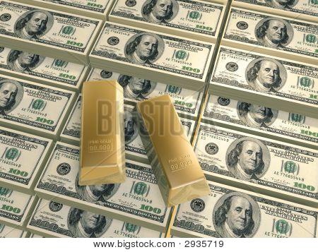 Dollars Pyramid Gold Bars