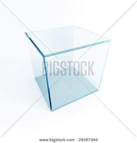 caja de presentación vacía, render 3d