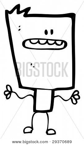 square cartoon man (raster version)