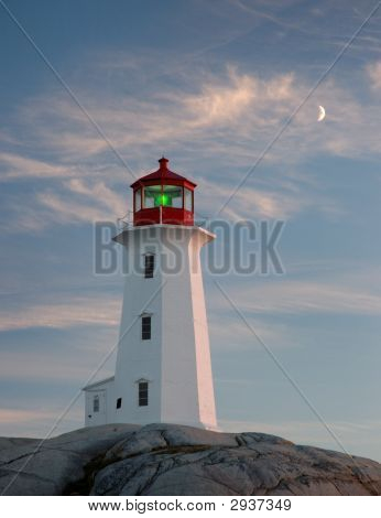 Peggy'S Cove Lighthouse, Evening