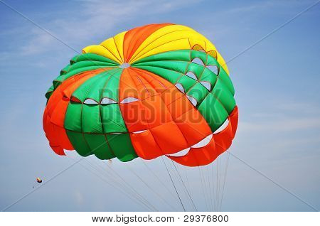 Parachute and blue sky