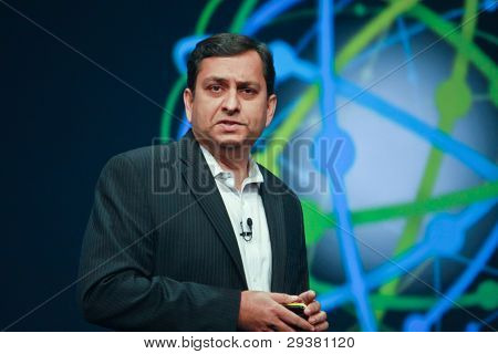 Orlando, Florida - January 18, 2012: Ibm Watson Solutions General Manager Manoj Saxena Delivers An A