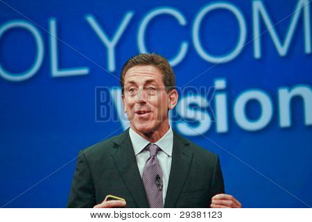 Orlando, Florida - January 18, 2012: Polycom Ceo   Andrew M. Miller Delivers An Address To Ibm Lotus