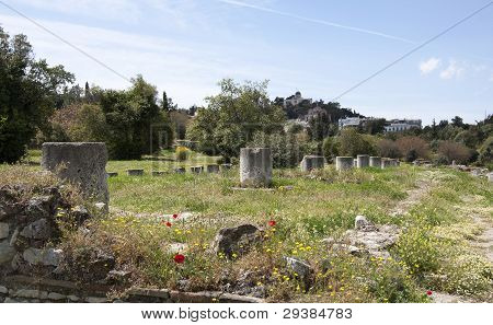 Remnants of the great old Agora in Athens.