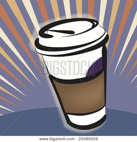 Vector Illustration - Take-out Coffee Cup: