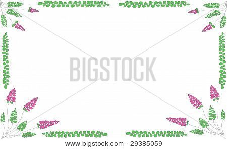 Floral Scope On A White Background