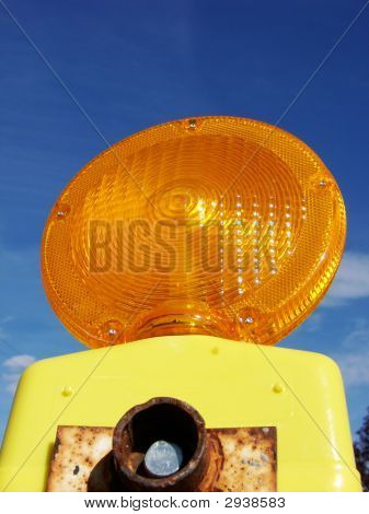 Orange Construction Flashing Light