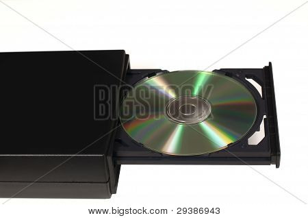 Cd In A Opened Tray Drive