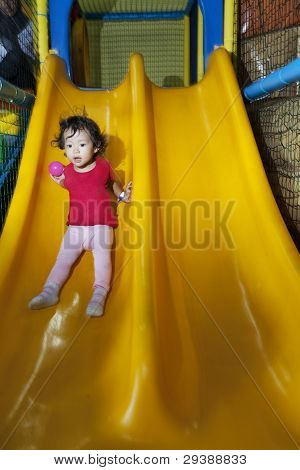 Cute Little Girl On Playground