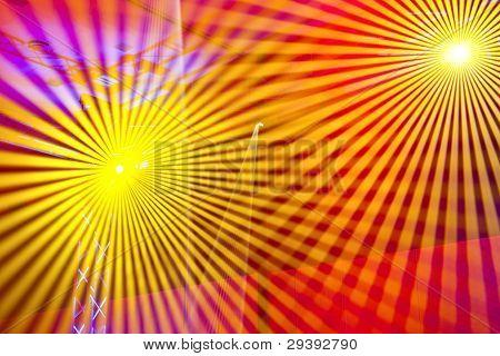 Laser lights making a pattern