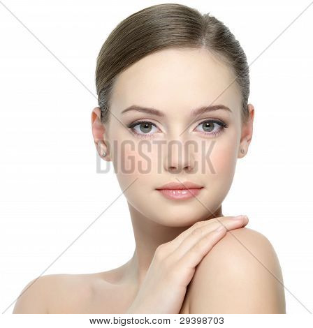 Portrait Of Girl With Clean Skin
