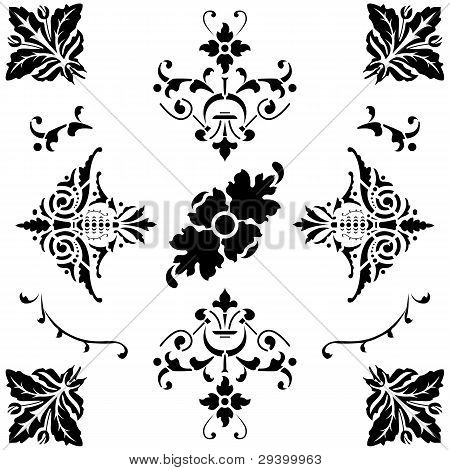 Black Medieval Ornaments