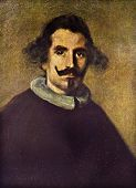 Постер, плакат: Diego Velazquez Self Portrait Reproduction from illustrated Encyclopedia