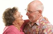 pic of mature men  - Happy Senior Couple romantically smiling and dancing - JPG