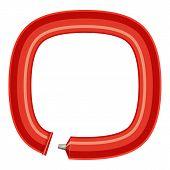 Sign Circular Plastic Tube Icon. Cartoon Illustration Of Sign Circular Plastic Tube Icon For Web poster