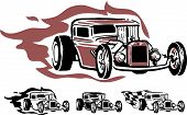 image of rockabilly  - Vector illustration of hotrod - JPG