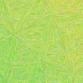 Yellow And Green Impressionism Impasto In Square Shape Background Illustration poster