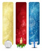Satz von Winter Christmas vertikale Banner Vol. 01