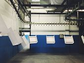 Industrial Automatic Painting Technology. Powder Coatings. Industrial Powder Coating Equipment poster