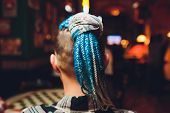 Fashion Of Hairstyle Cornrows Braid : Many Small Braids Tail Of Creative Hairstyle With Thick Plaits poster