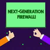 Writing Note Showing Next Generation Firewall. Business Photo Showcasing Combining Firewall With Oth poster
