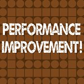 Word Writing Text Perforanalysisce Improvement. Business Concept For Improve Productivity Enhance Qu poster