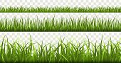 Green Grass Borders. Football Field, Summer Meadow Green Nature, Panorama Herbs Spring Macro Element poster