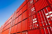 stock photo of container ship  - Cargo containers - JPG