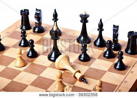 chess board isolated on white background
