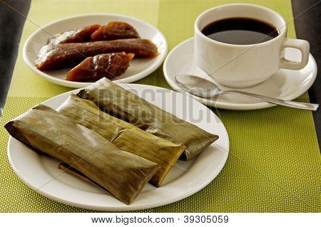 Pastel arroz desayuno