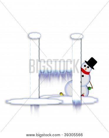 Alphabet Frosty H