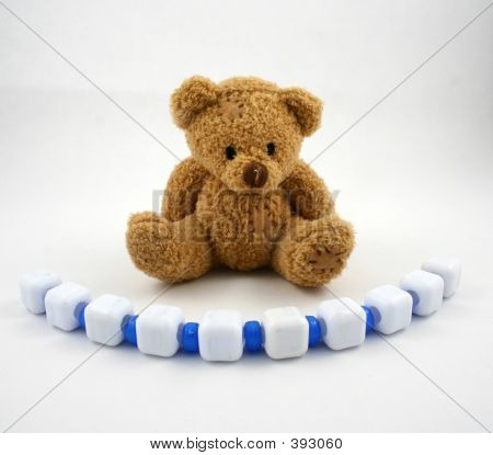Bear And Blue Beads