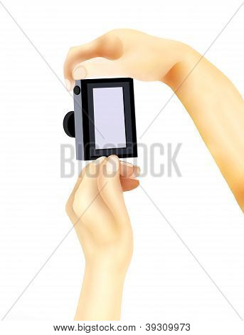 Taking A Picture With A Compact Digital Camera