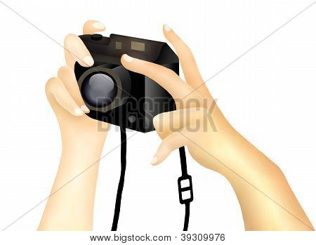 Taking A Picture With A Digital Camera