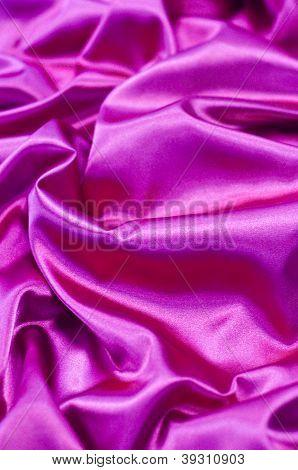 pink rippled fabric