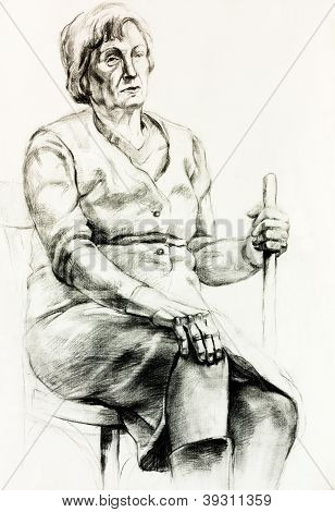Senior Woman-Porträt