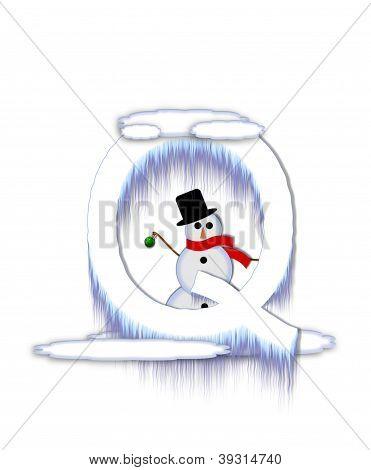 Alphabet Frosty Q