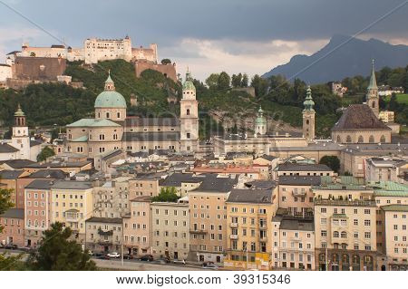 Salzburg At Sunset
