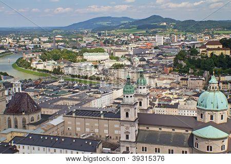Aerial View Of Salzburg (austria)