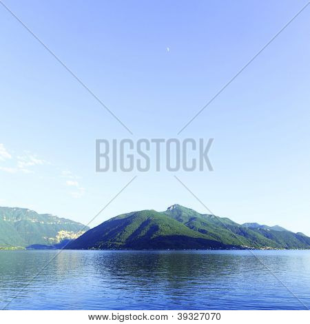 night lugano lake landscape