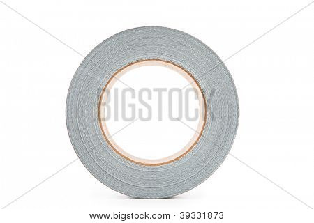 Silver electrical tape roll
