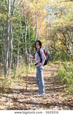 Pretty Teen Hiking