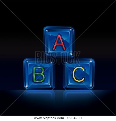 Hi-Tech Plastic Alphabet Blocks