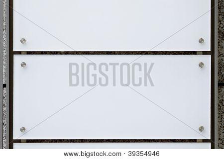 Empty nameplate